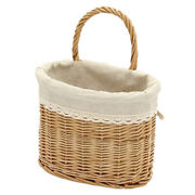 20xhand-woven Wicker With Handle Rattan Storage Basket Picnic Bread Basket