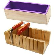 10xsoap Loaf Making Cutting Molds Kit With Silicone Mold+ Wooden Cutter Mold +