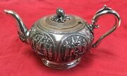 Antique Persian Teapot, Signed By The Maker With Presentation Inscription
