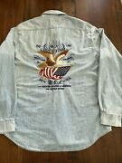 Polo Chambray Workshirt Nwt Eagle Flag L Home Of The Brave Denim