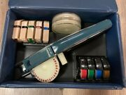 Vintage 1960and039s Nib M-10 Dymo Tapewriter Embossing Tool Label Maker With Case
