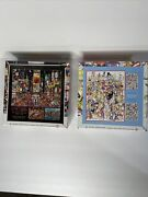 Lot Of 2 750 Piece Jigsaw Puzzles 100 Cats And A Fish/city Lights Nyc Sealed Euc
