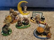 Charming Tails Fitz And Floyd Lot Of 6 Mouse Bunny Sorrry Thank You