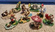 Charming Tails Fitz And Floyd Lot Of 9 Summer Spring Flowers