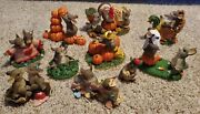 Charming Tails Lot Of 10 Thanksgiving Halloween Valentines St. Patrick Cute