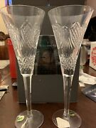Waterford Crystal Times Square Ball Toasting Flutes, 2008 1st Edition Light