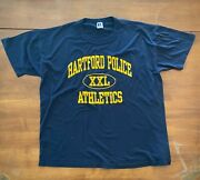 Vintage Hartford Police Athletics Russell Athletic Made In Usa T Shirt Menand039s Xl