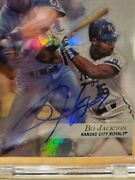 2018 Topps Archives Bo Jackson 1/1 Gold Label Buy-back On Card Blue Ink Auto Ssp