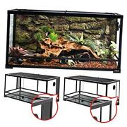 50 Gallon Reptile Glass Tank Terrarium 2 In 1 Side Meshes And Side Glasses