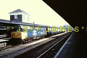 Original 35mm Railway Slide 1919- 50039 Ee. Co-co Loco Plymouth Station May 1984