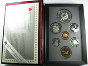 1988 Canada Proof Set Km Ps8 Set Of 7 Coins