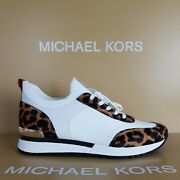 Trainers Women Size Uk 6 Jenkins Knit Optic White Leopard Rrp Andpound170