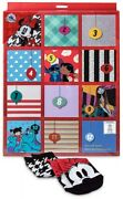 Disney And Pixar 12 Days Of Socks Holiday Advent Calendar For Women Fits Size 4-10