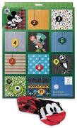 Disney And Pixar 12 Days Of Socks Holiday Advent Calendar For Men Fits Size 6-12