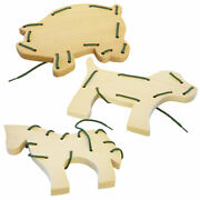 Amish Buggy Toys Wooden Animal Sewing Boards In Assorted Farm Animals Cpsia Kid