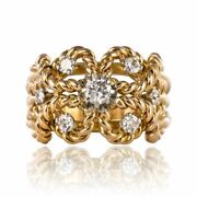 Ring Antique Dand039 Gold Diamonds Yellow Gold Vintage Jewelry Antiques
