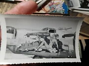 Ww2 Snapshot Photo, Army Airforce Bomber Pin-up Nose Art Cocktail Hour