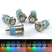 12v/24v Momentary Or Latching Button Switch - Aluminium Metal 3a Power Led