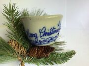 Vintage Merry Christmas Holly Berry Salmon Falls Stoneware Bowl 1994 Dover Nh