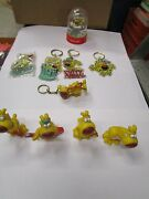 Grimmy Dog Keyrings And Figurines ., Mother Goose And Grimm . 9 Items.
