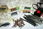 N Scale Lot Model Power 7521 0-6-0 Tank Loco Engine Cars Track Transformer Extra