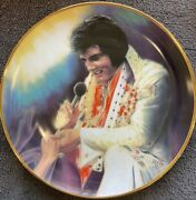 Loving You Elvis Remembered Collector Plate 1987 23k Gold Rim Coa