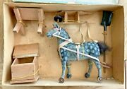 Vtg Rare Horse Box Toy, Circa 1930, Germany, Spain, France Never Played