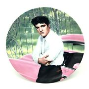 Elvis Presley Collectible Plate At The Gates Of Graceland Looking At A Legend