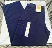 Menand039s Duck Work Dungaree Loose Fit Dark Blue 38 X 34 Pants New W Tags
