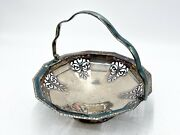 Vintage Regis Plate Epns Silver Plated Fruit Bowl With Handle A16