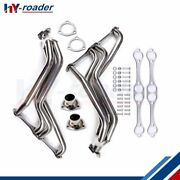For Small Block Chevy 265-400 V8 Exhaust Manifold Fat Fender Well Header New