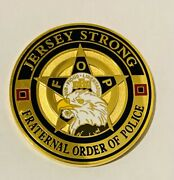 Unique-fraternal Order Of Police-new Jersey Strong-police Challenge Coin