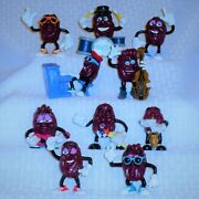 California Raisins Each One Is Different Set Of Ten 10 2 1/2 To 3 Tall