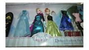 Official Disney Store Exclusive Frozen Elsa Anna Deluxe Fashion Doll Set New