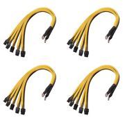 50x4pcs 6pin Connector Sever Power Supply Cable Pcie Express For P3 S7 S9 S11