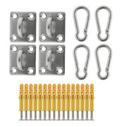 50x4 Sets Suspended Ceiling Wall Mount U-shaped Hooks Stainless Steel Heavy