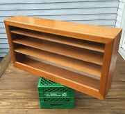 Beautiful Vintage Maple 39x20 Country Store Countertop Display Cabinet Exc Cond