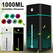 Led 1000ml Ultrasonic Air Humidifier Usb Purifier Aroma Essential Oil Diffuser