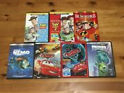 Pixar Dvd Blu-ray Lot Toy Story Cars Incredibles Finding Nemo Monsters + More