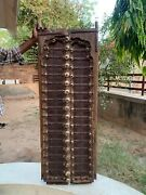 Rare Vintage Brass Iron Fitted Handcrafted Wooden Indian Castle Window Door