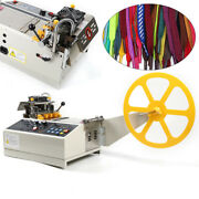 280w Hot And Cold Automatic Tape Cutting Machinebelt Cutter Leather Ribbon 110mm