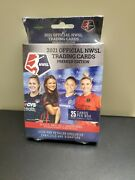 2021 Official Nwsl Trading Cards Premier Edition 25 Card Hanger Box New Sealed