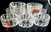 Gorham King Edward Collection Crystal Napkin Rings Holders Germany Set Of 8 New