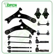 01-03 Fits Toyota Rav4 12pcs Front + Rear Steering Set Sway Bars Control Arms