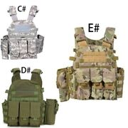 Military Clothing Tactical Bulletproof Vest Hunting Assault Chest Gear Kit Pouch