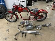 1960 Triumph T100 Custom Built Bobber Rolling Chases With Engine