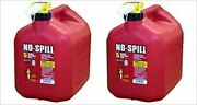No Spill Plastic Gas Can 5 Gal.