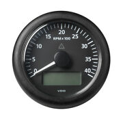 Veratron 3-3/8 Viewline Tach W/multifunction Display 0-4000rpm Blk Dial And Bezel