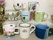 Lot Of 8 Starbucks Coffee Cup Mugs Various Styles Assortment Brewing Since 1971