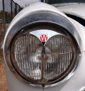 Pair Of Willys Vintage Auto Parts Headlights Part